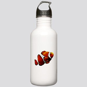 Orange Clownfish Tropical Clown Fish Water Bottle